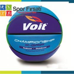 Voit - Voit XGrip Basketbol Topu N:6 Mavi Lacivert