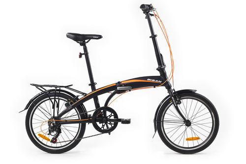 Bisan - Bisan Fx 3500 Katlanır Bisiklet 20JANT 6V 31CM -Siyah Turuncu