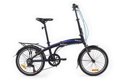 Bisan - Bisan Fx 3500 Katlanır Bisiklet 20JANT 6V 31CM -Siyah Mavi