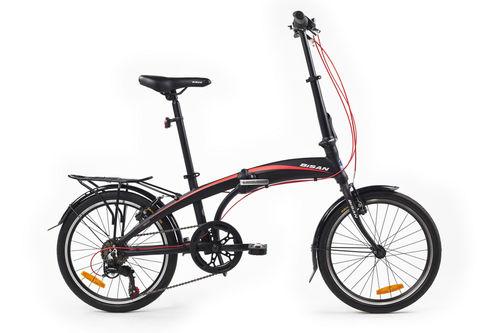 Bisan - Bisan Fx 3500 Katlanır Bisiklet 20J 6V 31CM -Siyah Kırmızı