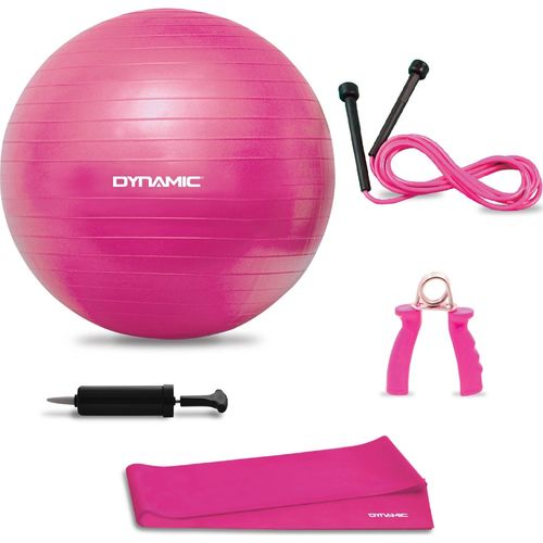 Dynamic - Dynamic Train 5'li Pilates Seti (Pilates Topu,Pilates Bandı,El yayı,Atlama İpi,Pompa)