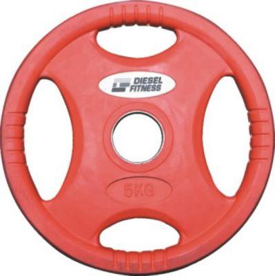 Diesel Fitness - Diesel Fitness ROP4 Kauçuk Flanş 5 kg.-Kırmızı
