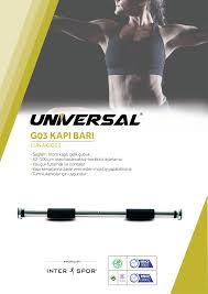 Universal - Universal Kapı Barı 62-100 cm Arası Ayarlanabilir /1UNAKIG03