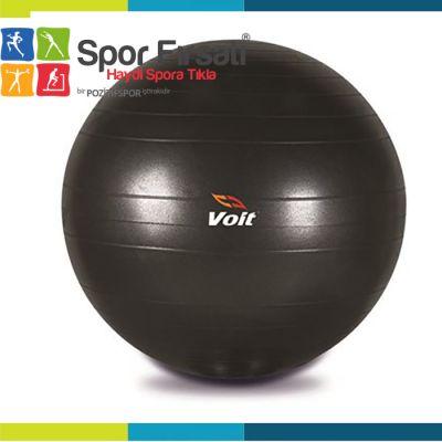 Voit - Voit 55 Cm Pilates Topu Siyah + Pompa Hediyeli