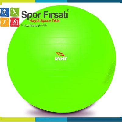 Voit - Voit 55 Cm Pilates Topu Yeşil + Pompa Hediyeli