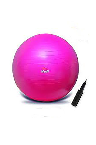 Voit - Voit 65 Cm. Pilates Topu Fuşya + Pompa Hediyeli