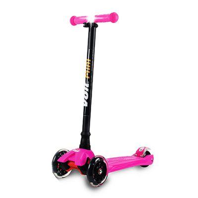 Voit - Voit Mini Led Işıklı 3 Teker Scooter -Fuşya