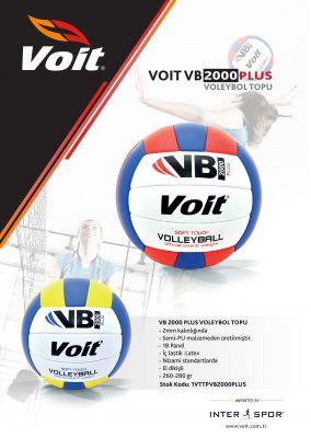Voit - Voit VB2000 Plus Voleybol Topu No 5 Sarı-Beyaz-Lacivert